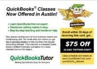 QuickBooks Tutor, marketing collateal by New Paradigm graphic design, Santa Rosa, CA
