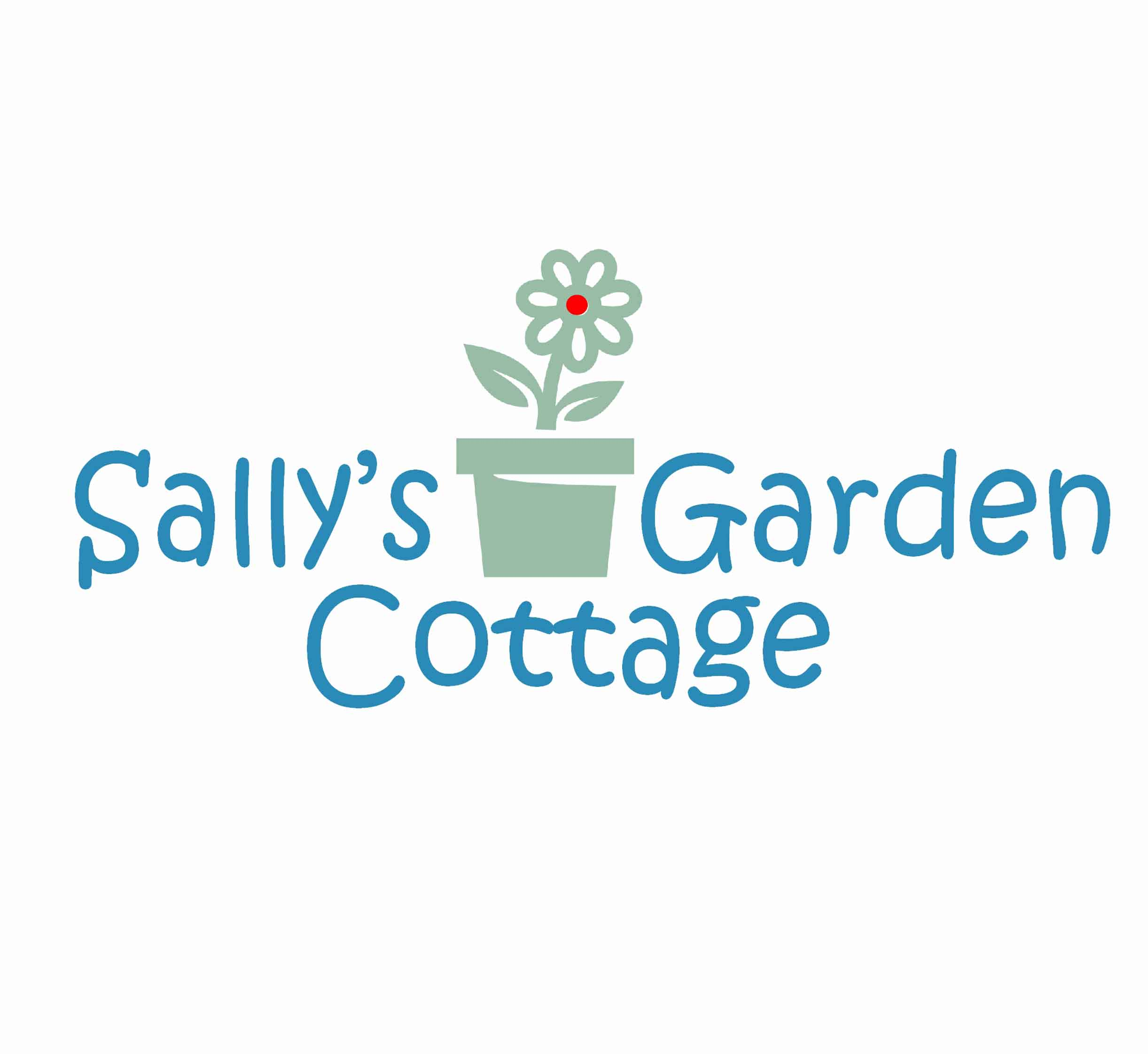 Sally's Garden Cottage, logo by New Paradigm graphic design, Santa Rosa, CA