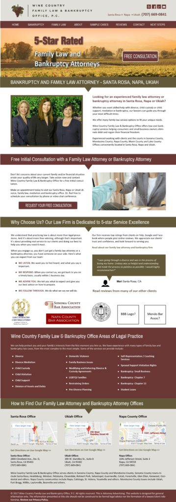 Wine Country Family Law & Bankruptcy