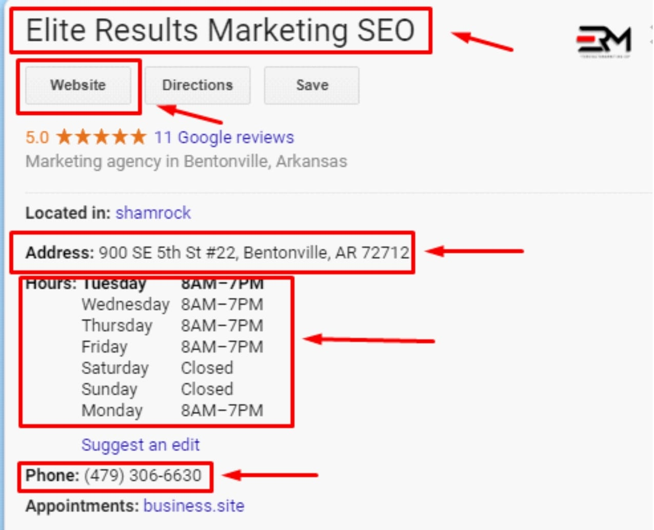 how to set up a google business page begins with an NAP listing