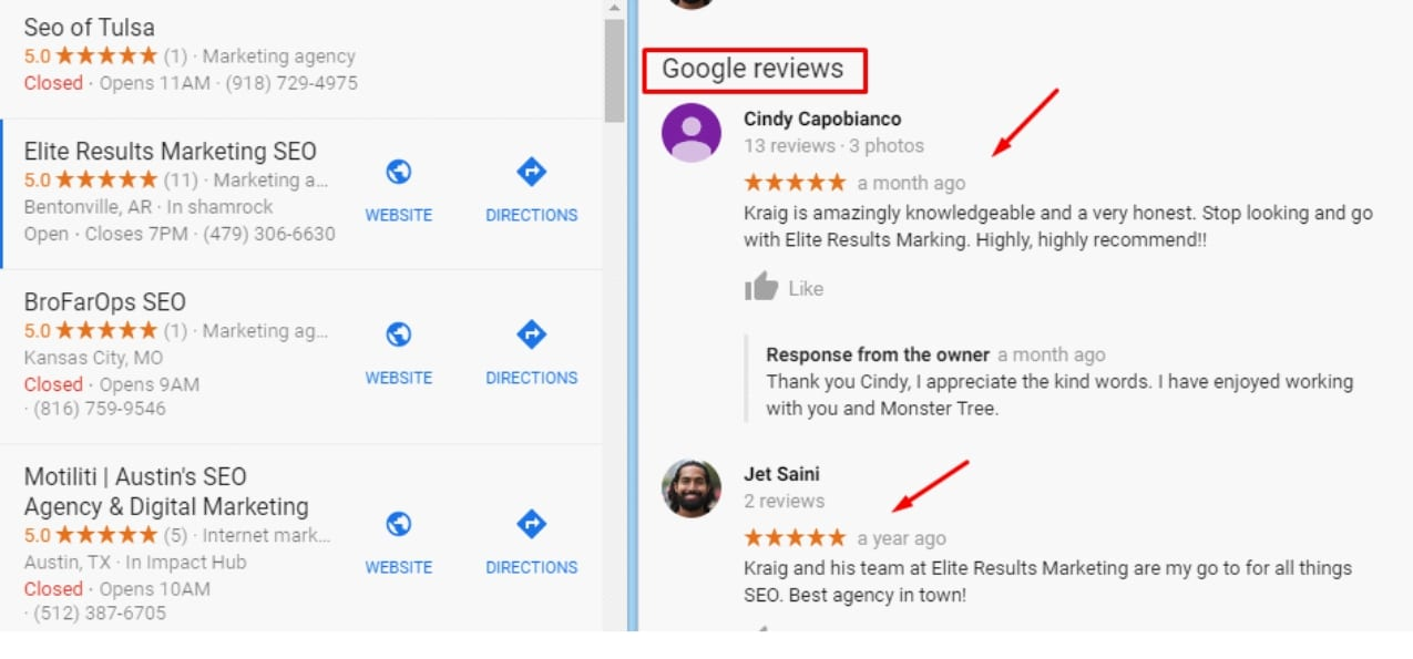 strong google reviews is one way how to use google my business